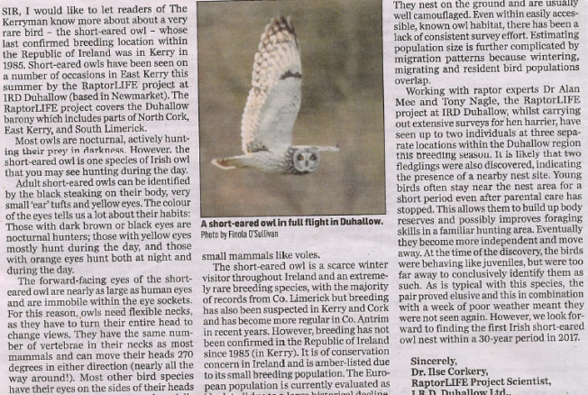 Article in the Kerryman